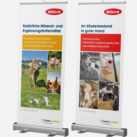 Throw Nutrition Roll-up für Messen